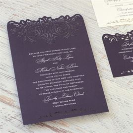 Intricate Beauty - Laser Cut Invitation