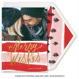 Candy Cane Wishes - Foil Holiday Card