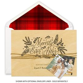 Naturally Merry - Real Wood Holiday Card