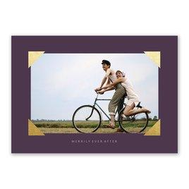 Metallic Corners - Foil Holiday Card