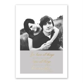 Love Believes - Gold - Foil Invitation