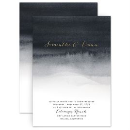 modern wedding invitations mysterious love foil invitation - Modern Wedding Invitations