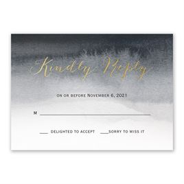 Wedding Response Cards: Mysterious Love Foil Response Card