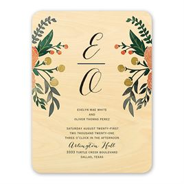 Real Wood Wedding Invitations: 