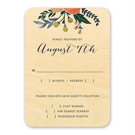 Floral Fancy - Real Wood Response Card