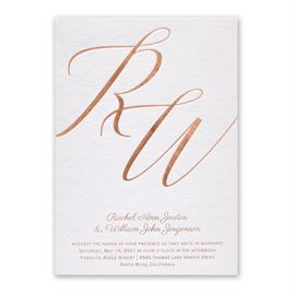 Initial Love - Foil Invitation