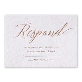 Initial Love - Foil Response Card
