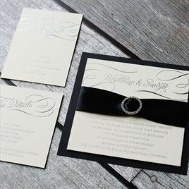 Satin and Swirls - Foil Invitation