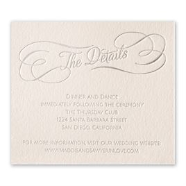 Satin and Swirls - Foil Information Card