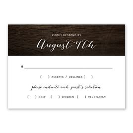 Wedding Response Cards: Rustic Beauty Response Card