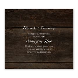 Rustic Beauty - Information Card