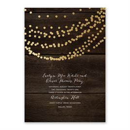 Rustic Beauty Foil Invitation