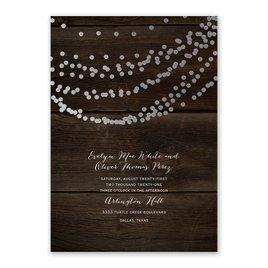 Rustic Beauty - Silver - Foil Invitation