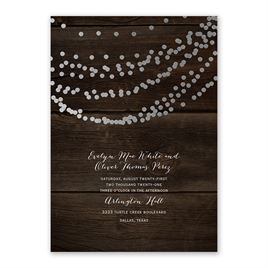 Rustic Beauty - Silver - Foil Invitation