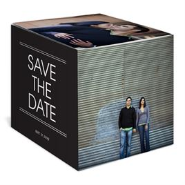 Modern Treasure - Save the Date Photo Cube
