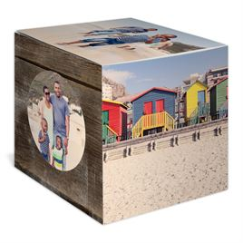 Rustic Wonder - Holiday Photo Cube