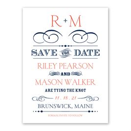 Monogram Save the Dates: 