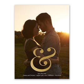 Sign of Love - Gold - Foil Save the Date Card