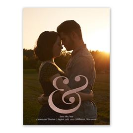 Sign of Love - Rose Gold - Foil Save the Date Card