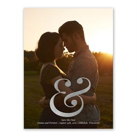 Sign of Love - Silver - Foil Save the Date Card