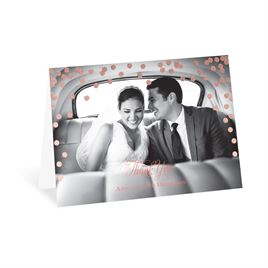 Polka Dot Glow - Rose Gold - Foil Thank You Card