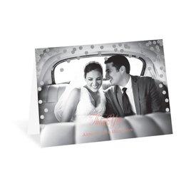Polka Dot Glow - Silver - Foil Thank You Card