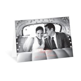 Polka Dot Glow - Silver - Foil Thank You Card