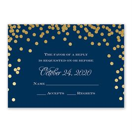 Polka Dot Glow - Gold - Foil Response Card