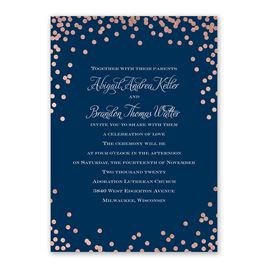 Polka Dot Glow - Rose Gold - Foil Invitation