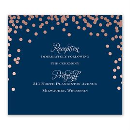 Polka Dot Glow - Rose Gold - Foil Information Card