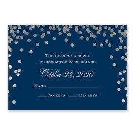 Polka Dot Glow - Silver - Foil Response Card