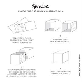 Lacy Gates - Photo Cube Invitation