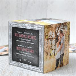 Crafted Window - Photo Cube Invitation
