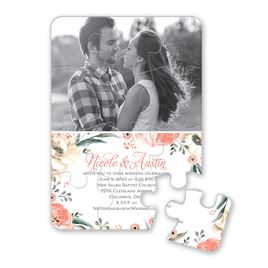 Poppies and Roses - Puzzle Invitation