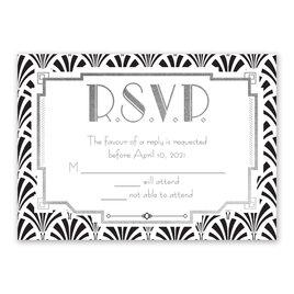 Radiant Art Deco - Silver - Foil Response Card