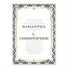 Radiant Art Deco Foil Invitation