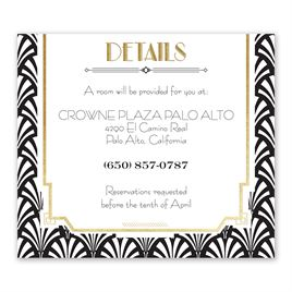 Radiant Art Deco - Gold - Foil Information Card