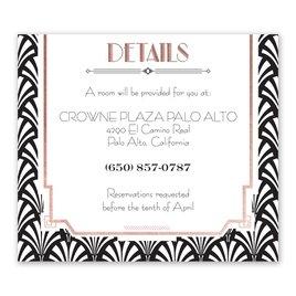 Radiant Art Deco - Rose Gold - Foil Information Card