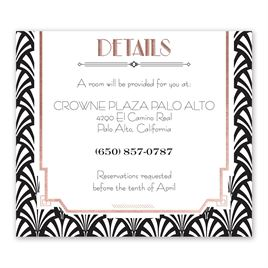 Radiant Art Deco - Rose Gold - Foil Information Card