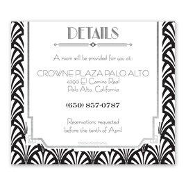 Radiant Art Deco - Silver - Foil Information Card