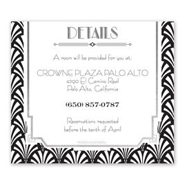 Radiant Art Deco - Silver - Foil Information Card