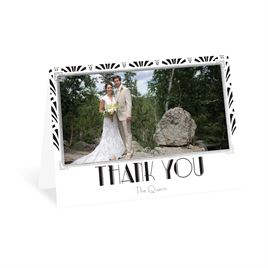 Radiant Art Deco - Silver - Foil Thank You Card