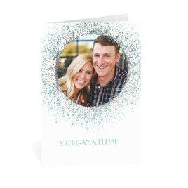 Splatter Frame - Silver - Foil Thank You Card