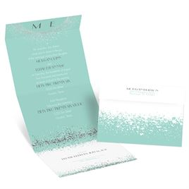 Splatter Frame - Silver - Foil Seal and Send Invitation