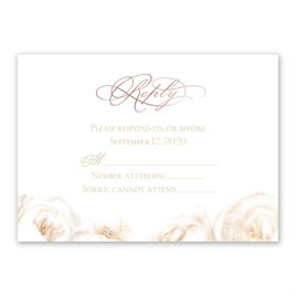 White Roses - Rose Gold - Foil Response Card