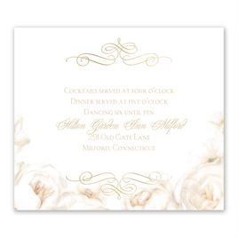 White Roses - Gold - Foil Information Card