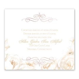 White Roses - Rose Gold - Foil Information Card