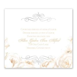 White Roses - Silver - Foil Information Card