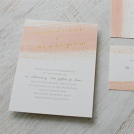 Brushed with Color - Gold - Foil Invitation