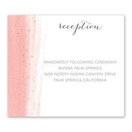 Brushed with Color - Rose Gold - Foil Information Card